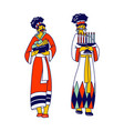 african tribal female characters wearing vector image vector image