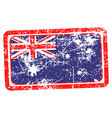australia flag red grunge rubber stamp vector image