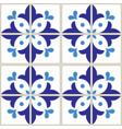 azulejos tiles pattern - portuguese blue design vector image vector image