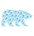 bear mosaic of mars symbol icons vector image