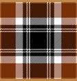 brown tartan plaid seamless pattern vector image vector image