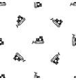 bulldozer pattern seamless black vector image vector image