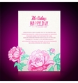Card background from peonies vector image vector image
