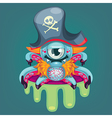 Cartoon pirate virus vector image