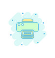 cartoon printer icon in comic style document vector image vector image