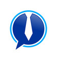 ceo talk bubble chat blue symbol design vector image vector image