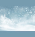 christmas winter snowy landscape background vector image vector image