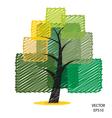 Color scribble tree symbol vector image vector image
