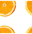 colored stylized orange fruit seamless pattern vector image vector image