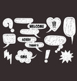 comic book text speech bubble vector image vector image