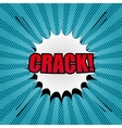 Comic crack template vector image vector image