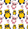 cute animals seamless pattern vector image vector image
