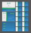 desktop calendar 2019 year copy space vector image