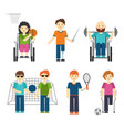 disabled sports handicapped vector image vector image