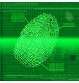 Finger print green vector image