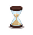 flat icon of old hourglass with flowing vector image