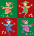 funny kids vector image