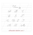 hand drawn calligraphic Alphabet part 1 vector image vector image