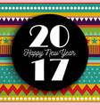 happy new year 2017 abstract color art card design vector image vector image