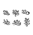 happy new year 2020 set calligraphy hand vector image