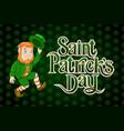 happy saint patrick day lettering irish holiday vector image