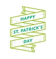Happy St Patricks day greeting emblem vector image