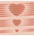 Heart origami pink Background vector image