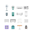 Heating Ventilation and Conditioning Devices Set vector image