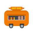 hot dog shop trailer icon flat style vector image