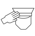 icon of a saluting serviceman vector image