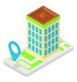 isometric location application vector image vector image