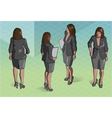 Isometric Woman Secretary Standing vector image