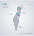 israel map with infographic elements pointer marks vector image vector image