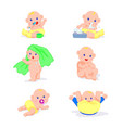 little baby in everyday life set cute little boy vector image