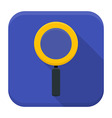 Magnifying glass app icon with long shadow vector image vector image