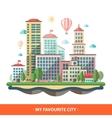Modern flat design conceptual city vector image vector image