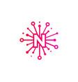 n share letter logo icon design vector image