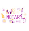 notary professional service concept people visit vector image vector image