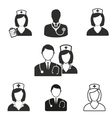 Nurse icon set vector image vector image