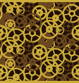 old retro gears vintage mechanism seamless pattern vector image