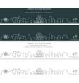palma single line skyline banner vector image vector image