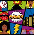 people pop art comic vector image vector image