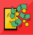 phone series get money from your vector image vector image
