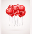 red birthday balloons soaring vector image vector image