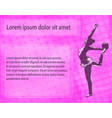 rhythmic gymnast dancer sketch silhouette on the vector image