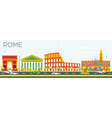 Rome Skyline with Color Buildings vector image vector image