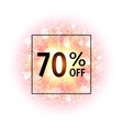 Sale banner 70 percents off Abstract explosion vector image vector image