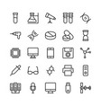 science and technology line icons 9 vector image vector image