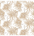 seamless tropic leaves spring pattern light sandy vector image vector image