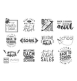 set back to school sale retro style vector image